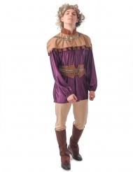Prinzen-Kostüm Mittelalter-Verkleidung für Fasching violett-braun