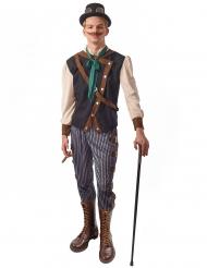 Steampunk Dandy-Kostüm für Herren Faschings-Verkleidung braun-blau-beige