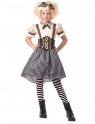 Außergewöhnliches Steampunk-Kostüm für Mädchen Halloweenkostüm weiss-schwarz
