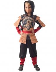 Traditionelles Ninja-Kostüm für Jungen Halloween schwarz-braun-rot