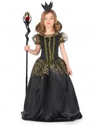 Halloween-Kostüm Böse Königin für Mädchen schwarz-gold