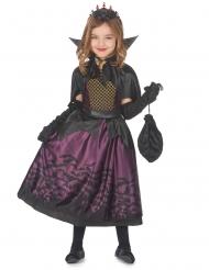Edles Vampirkostüm für Mädchen mit Fledermäusen lila-schwarz