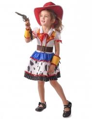 Cowgirl Wilder Westen Kostüm für Mädchen Blau Weiss Gelb Rot