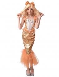 Meerjungfrau Nixe Kostüm für Mädchen Kinderkostüm Orange