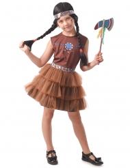 Indianer Squaw Kinderkostüm Kostüm für Mädchen Braun