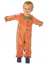 Süsses Lebkuchenmann-Kostüm für Kinder Weihnachtskostüm braun