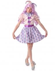 Harlekin-Kostüm für Mädchen Kinderkostüm Fasching bunt