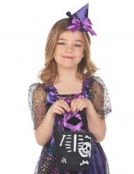 Halloween Skelett-Handtasche für Mädchen Accessoire schwarz-weiss