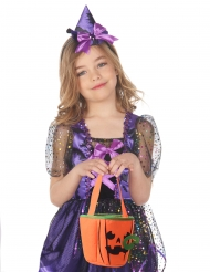 Süßigkeiten-Tasche in Kürbis-Form Halloween-Accessoire orange-schwarz