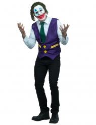 Durchgeknallter Psychoclown Herrenkostüm für Halloween grün-weiß-violett