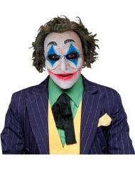 Film-Maske für Halloween verrückte Clownmaske weiss-blau