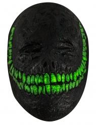 Lächelnde Dämonenmaske für Erwachsene schwarz-grün