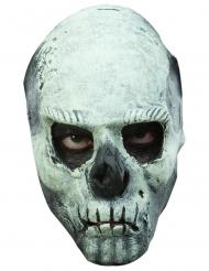 Nachtleuchtende Totenkopf-Maske für Erwachsene weiß-grau