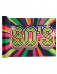 80er-Jahre Tischdekoration Partyzubehör bunt 3 m x 30 cm