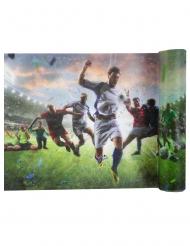 Sportlicher Fußball-Tischläufer Partyzubehör bunt 30 cm x 5 m