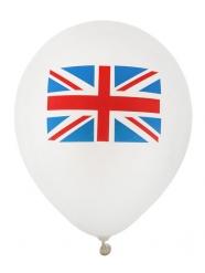 UK-Ballon Raumdekoration Länder 8 Stück weiss-blau-rot 23 cm