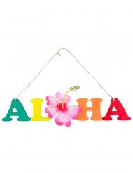Aloha Türschild für eine Beach Party Deko-Artikel bunt 39 cm