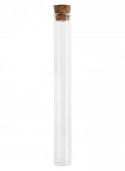 Deko-Reagenzglas für Tischdekorationen transparent-braun 20 cm