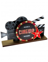 Tischdekoration-Filmklappe Partyzubehör schwarz-rot