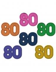 80er-Jahre Streuteile für Geburtstage und Mottopartys 10 Stück bunt