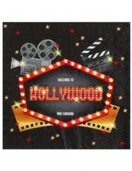 Hollywood-Servietten Tischzubehör 20 Stück bunt 33 x 33 cm