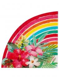 Tropische-Servietten Aloha für Gartenpartys 20 Stück bunt 33 cm
