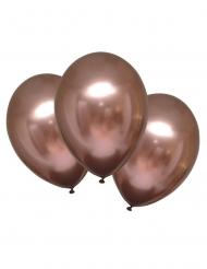 Schimmernde Latexballons mit Satin-Effekt 6 Stück roségold 28 cm