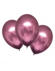 Elegante Luftballons mit Satin-Effekt Partydekoration 6 Stück pink