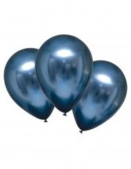 Luftballons mit Satin-Effekt schimmerndes Partyzubehör marineblau 28 cm
