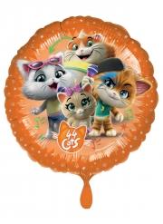 44 Cats™-Folienballon Partyzubehör für Kindergeburtstage bunt