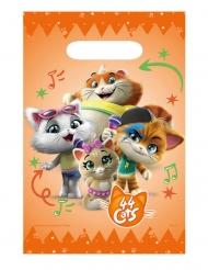 44 Chats™-Tüten für Kindergeburtstage Partyzubehör 8 Stück orange