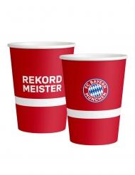 FC Bayern München™ -Trinkbecher 8 Stück Tischzubehör rot-weiss-blau 250 ml