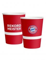 FC Bayern München™ Pappbecher 6 Stück Tischzubehör rot-weiss-blau 500 ml