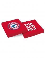 FC Bayern München™-Servietten Tischzubehör 20 Stück rot-weiß-blau 33x33cm