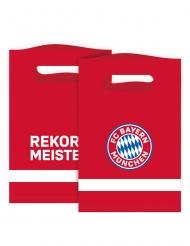 FC Bayern München™ Geschenktüten Fanartikel 8 Stück rot-weiss-blau 15 x 23 cm