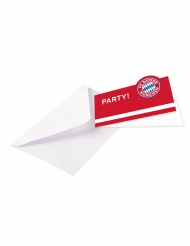 FC Bayern München™ Einladungskarten 16-teilig rot-weiss-blau 13 x 8 cm