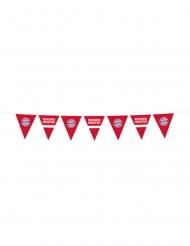 FC Bayern München™-Wimpelgirlande Raumdekoration rot-weiss-blau 4 m