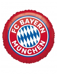 FC Bayern München™-Folienballon Fanartikel rot-weiss-blau 45 cm