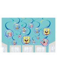 Spongebob Schwammkopf™-Hängedekoration für Kindergeburtstage 12 Stück bunt