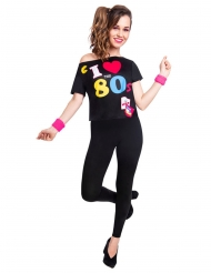 Tshirt 80iger-Jahre Kostüm-Accessoire für Frauen