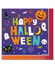 Servietten für Halloween Happy Halloween Partydekoration 16 Stück bunt 33x33cm