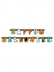 Geister und Kürbis-Girlande Happy Halloween Partyzubehör bunt 1,90 m