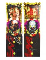 Killerclown-Dekoschild Halloween-Partydeko Creepy-Clown bunt 94x30cm