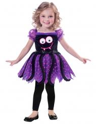 Niedliches Spinnen-Kostüm für Mädchen schwarz-lila