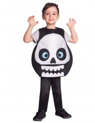 Lustiges Skelett-Kostüm für Kinder Halloween-Verkleidung schwarz-weiss
