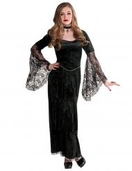 Elegante Vampirdame Gothic-Kinderkostüm schwarz