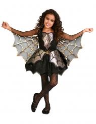 Hübsches Spinnen-Kostüm für Mädchen Halloween-Verkleidung schwarz-gold