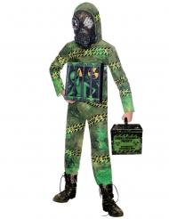 Alien-Kinderkostüm für Halloween und Fasching Radioaktiv grün