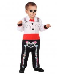 Dia de los Muertos-Kostüm für Kleinkinder Skelett-Overall bunt