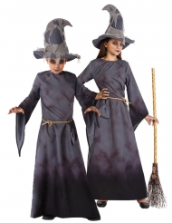 Dunkles Hexenkostüm für Mädchen Halloween-Kostüm grau